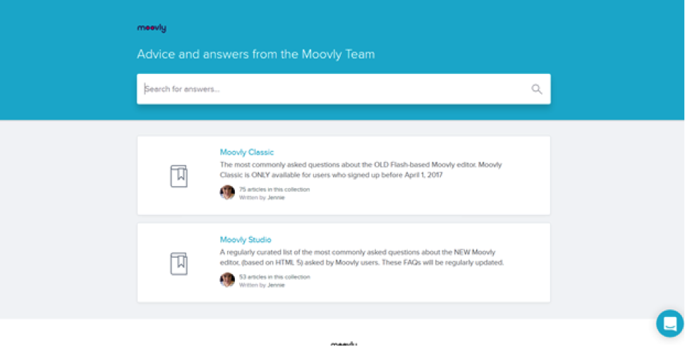 Need a hand from the Moovly team? Check out the new and improved Moovly Help Center!