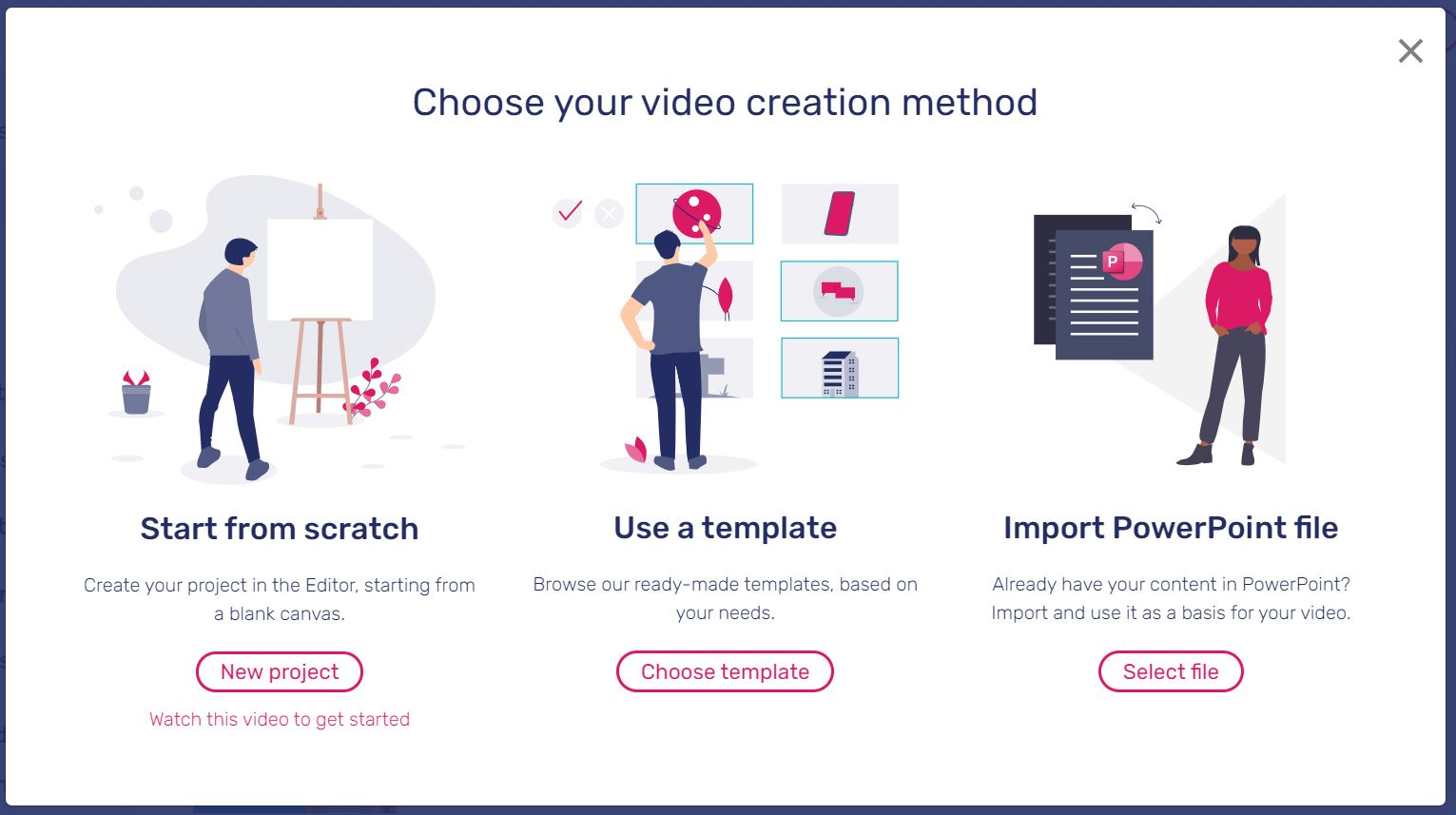 Three different ways you can create a video with Moovly.